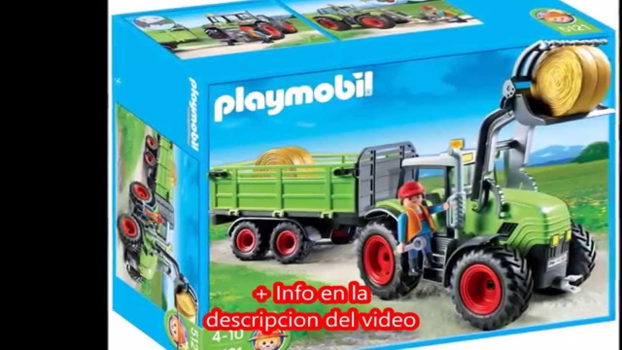 Playmobil granja tractor con tr iler 5121 youtube for La granja de playmobil precio