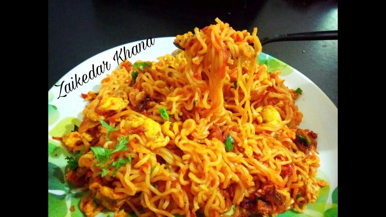 Egg Yippee Masala noodles recipe / Street Style Egg Yippee ...