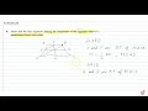 Show that the   line segments joining the mid-points of the opposite sides of a quadrilateral...