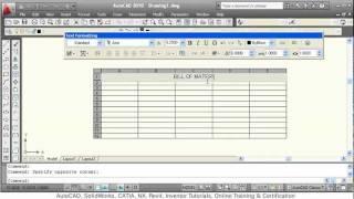 AutoCAD Table Tutorial AutoCAD Table Edit