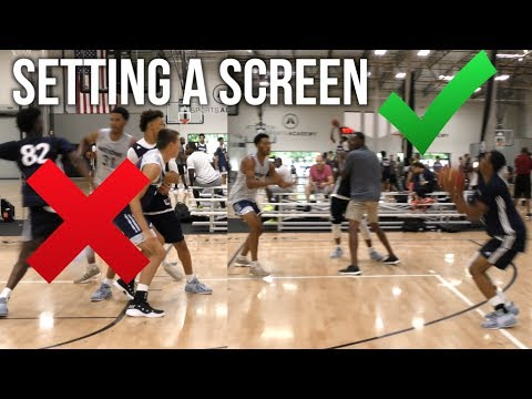 Former NBA Coach Shows The Importance Of A Screen To Top HS Guard At adidas Nations