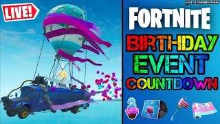 🔴 *NEW* 2ND BIRTHDAY EVENT CELEBRATION COUNTDOWN TIMER & ORB CRACKING (FORTNITE LIVE)