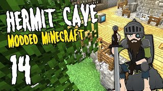 Hermit Cave: 14 | Base OVERHAUL! | Modded Minecraft