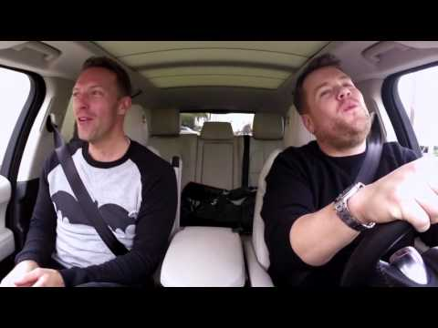 Chris Martin and James Corden sing Adventure of a lifetime