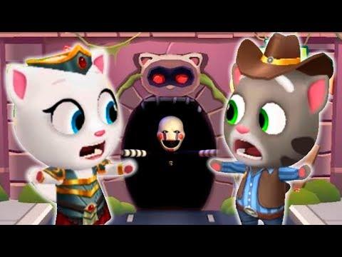Мой говорящий том Бег за золотом Мультик про котиков 5 ночей с Фредди Аниматроники  Игра для детей