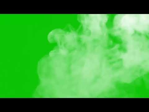 Дым на зеленом фоне 3 футажа дыма   (ХРОМАКЕЙ ДЫМ) футажи дым туман