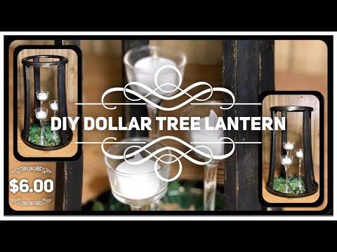 DIY Dollar Tree Farmhouse Lantern - Table Centerpiece or Porch / Patio Decor - Modern Farmhouse
