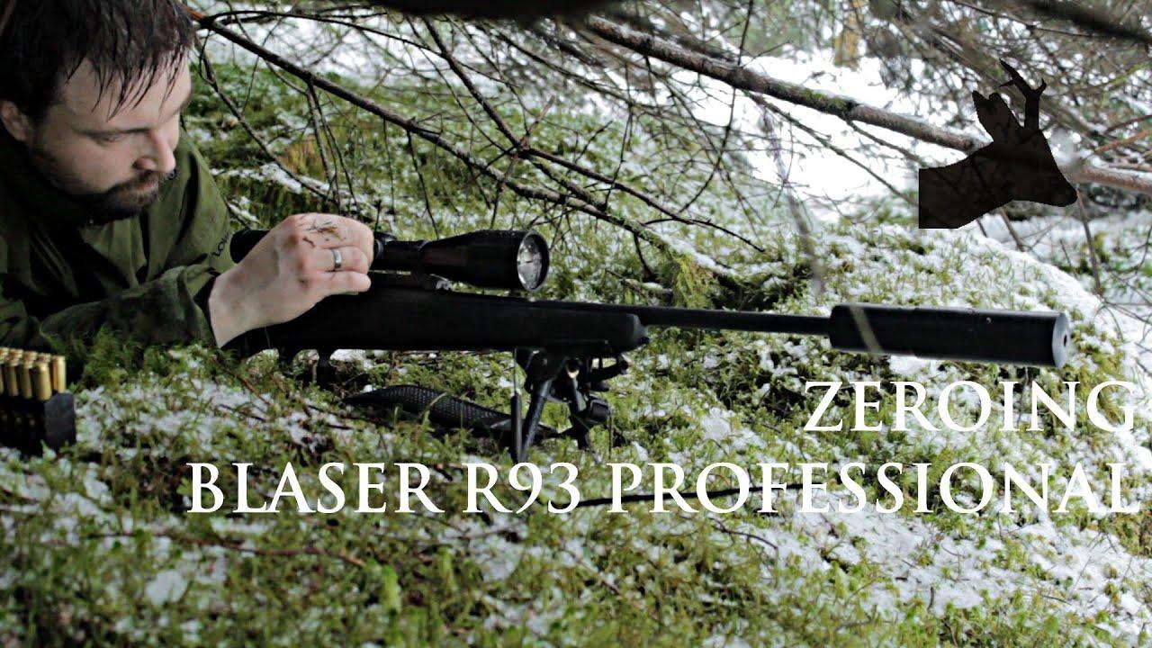 Blaser r93 professional zeroing przystrzeliwanie blasera youtube