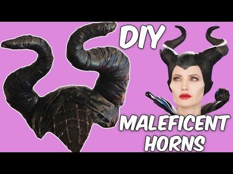 DIY MALEFICENT horns. HALLOWEEN HOMEMADE COSTUMS