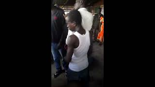 Thief lynched inside a polyclinic in Ghana.