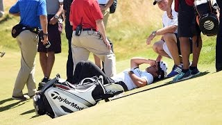 Jason Day Collapses at U.S. Open   GOLF.com