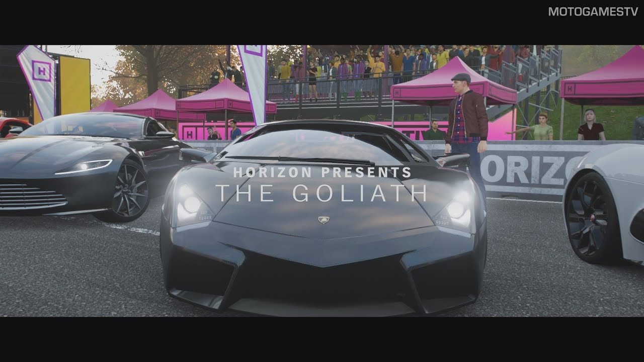 forza horizon 4 the goliath gameplay in lamborghini. Black Bedroom Furniture Sets. Home Design Ideas