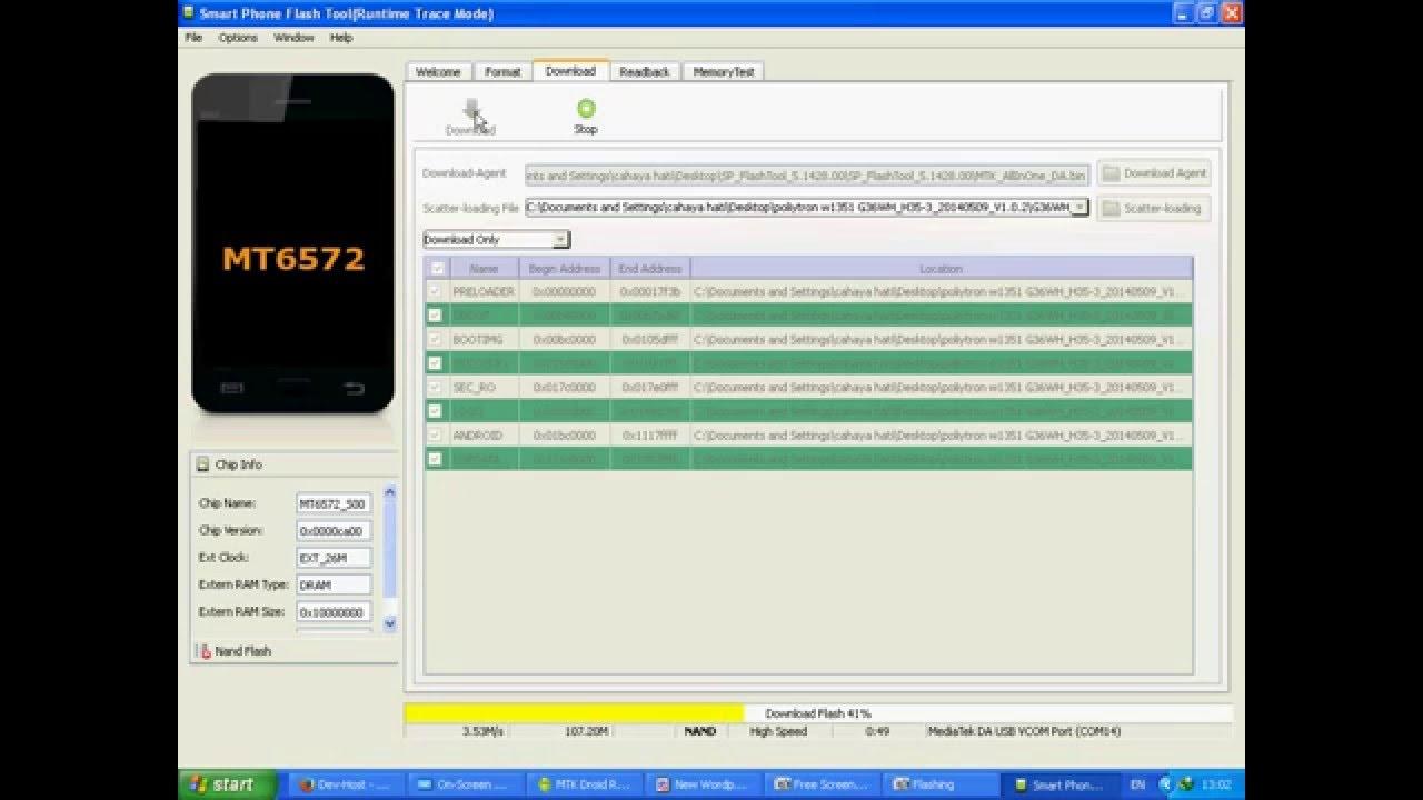 Tutorial Flashing Polytron W1351 Boot Loop Youtube