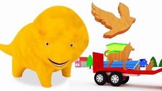 Lerne Tiernamen mit Würfeln und Dino dem Dinosaurier  Lehrreiche Cartoons für Kinder und Kleinkinder