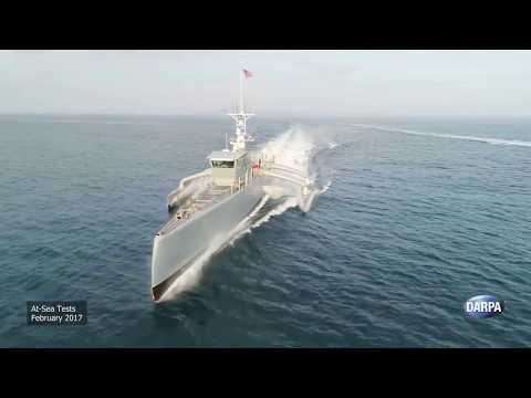 DARPA - Sea Hunter Anti-Submarine Warfare Continuous Trail Unmanned Vessel Highlights [1080p]