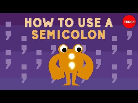 Video image: How to use a semicolon - Emma Bryce