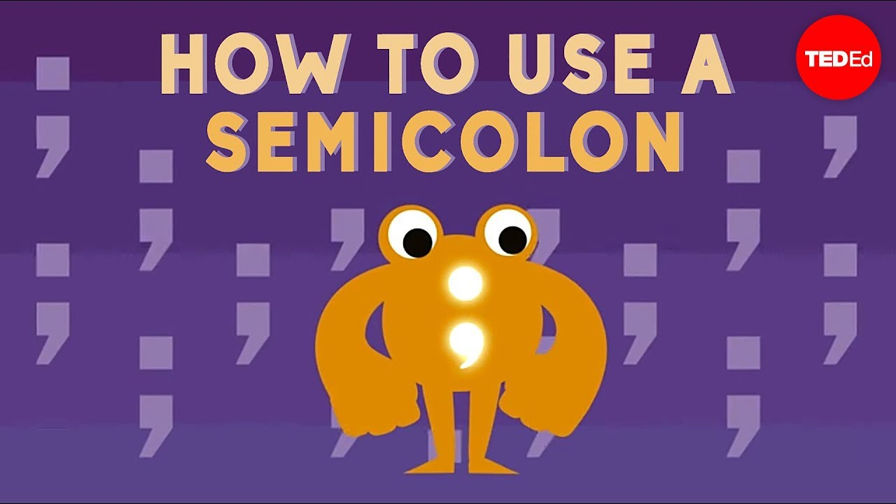What does a semicolon look like