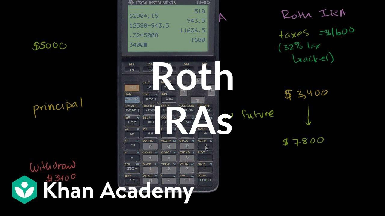 Roth IRAs | Finance & Capital Markets | Khan Academy