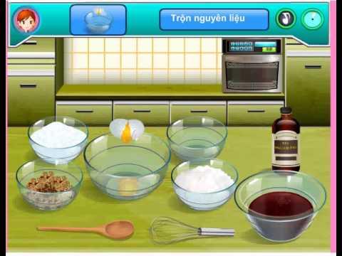 Game bánh kem sốt socola – Học làm bánh kem