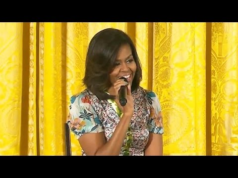 Girl tells Michelle Obama