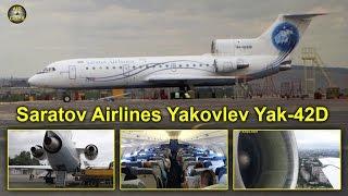 Saratov Airlines (Saravia) Yakovlev Yak-42 Saratov to Moscow DME [AirClips full flight series]