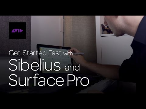 Get Started Fast with Sibelius and Surface Pro