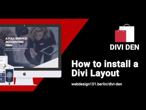 How to install: Accountant Divi Layout Homepage