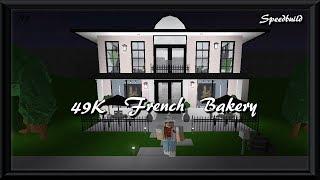 49K French Bakery | Roblox Bloxburg | Speedbuild |