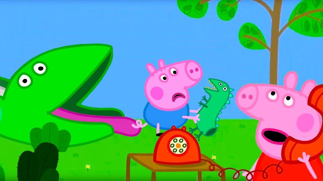 Свинка Пеппа на русском все серии подряд | Горка, динозавры и Дедушка Кролик | Мультики