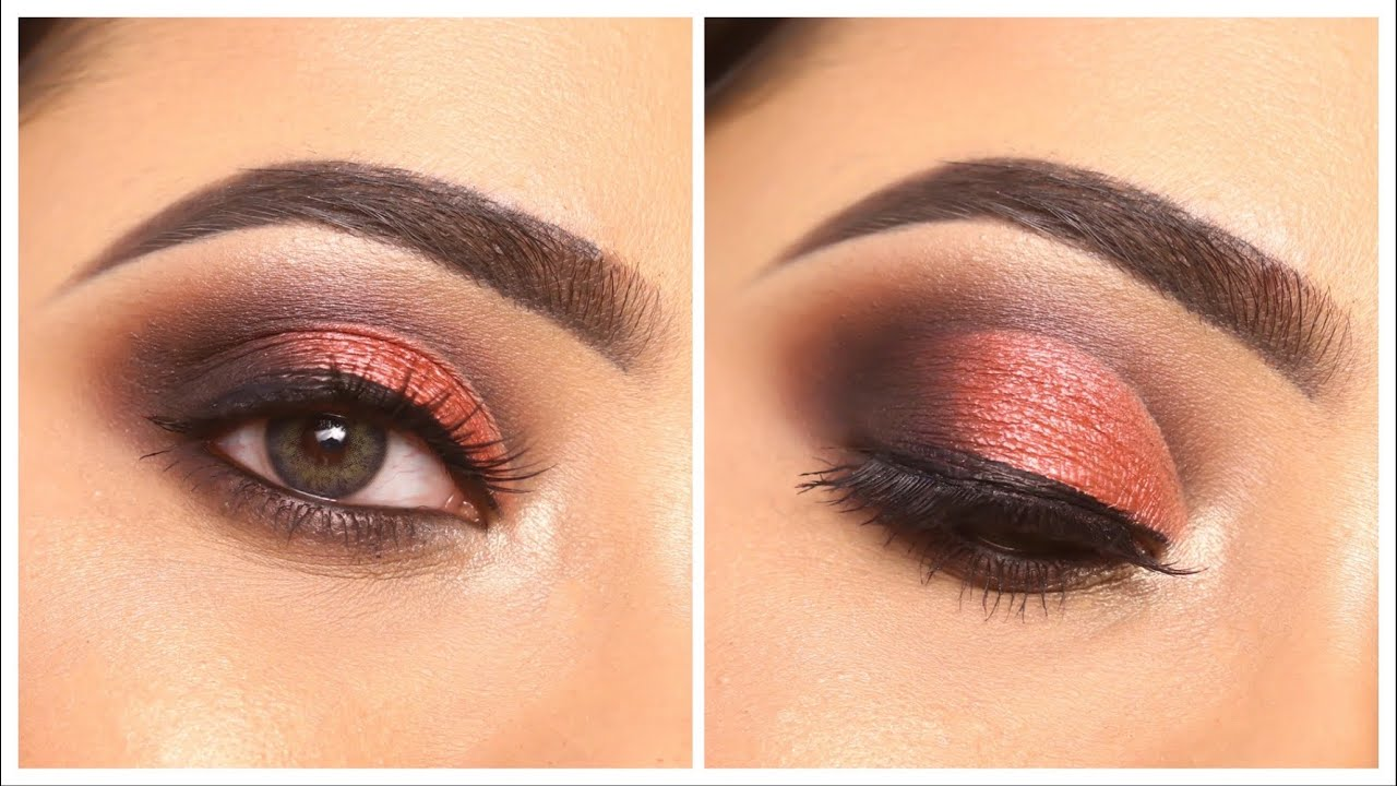 Red Smokey Eye Makeup || Step by step half cut crease || Easy and simple eye makeup || Shilpa