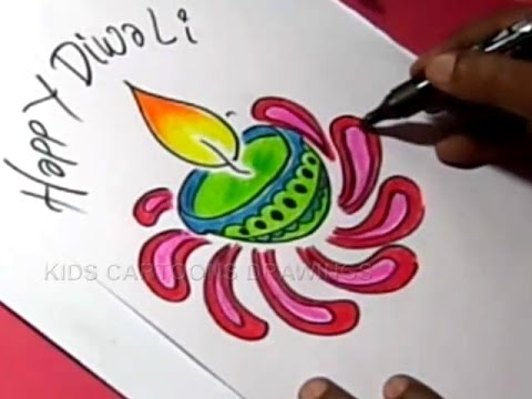 How to draw simple diwali greeting step by for childrens also youtube rh