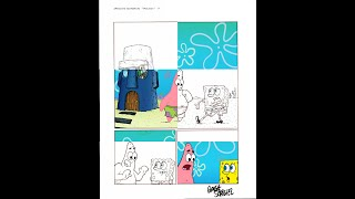 Digital Coloring Video Spongebob