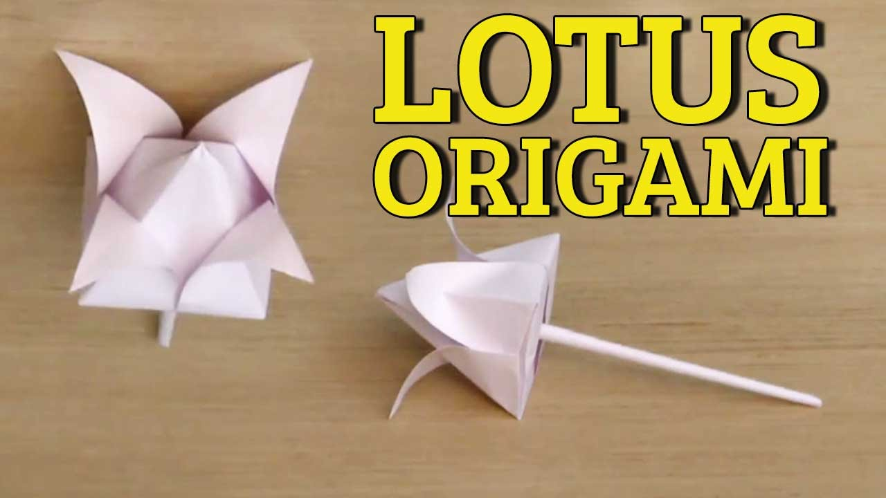 3d origami flowers tutorial easy paper flower folding for How to make a lotus with paper