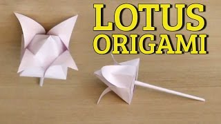 3d Origami Flowers Tutorial | Easy Paper Flower Folding | Origami Magic Lotus