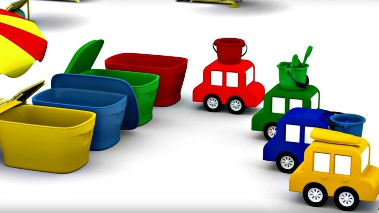 lehrreicher zeichentrickfilm die 4 kleinen autos spielspa am strand youtube. Black Bedroom Furniture Sets. Home Design Ideas