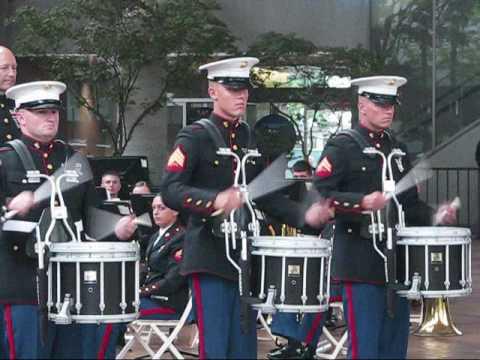 1st Marine Division Concert Band drumline