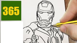 HOW TO DRAW A IRON MAN CUTE, Easy step by step drawing lessons for kids