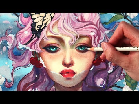 mixed-media-painting-tutorial-+-arteza-watercolors-and-gouache-paints-review!