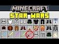 Minecraft STAR WARS MOD! - JEDI, SITH, LIGHTSABERS, & MORE! - (Minecraft PE Mods)