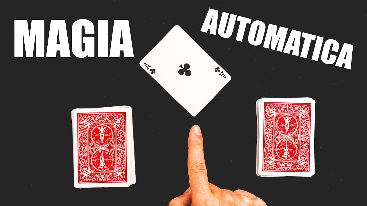 MAGIA AUTOMATICA CON LE CARTE SEMPLICE (tutorial)