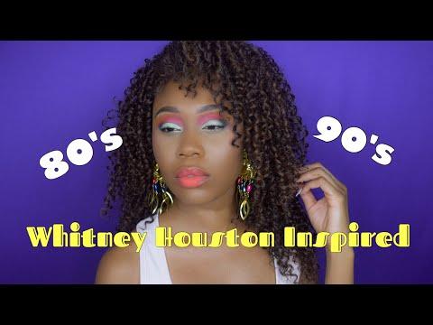 80s Halloween Costume & Makeup Tutorial Whitney Houston Inspired