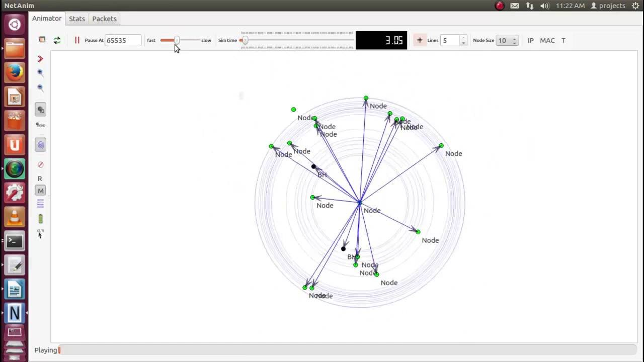 Routing AODV Defending Blackhole and Wormhole Attacks ns3 projects