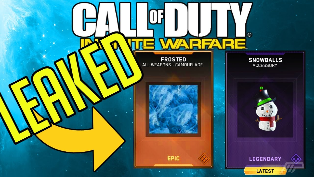 ALL Christmas Gifts LEAKED In Infinite Warfare! (NEW Camo, Weapon ...