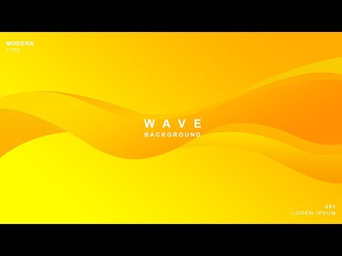 How To Design Modern Wave Background In Photoshop