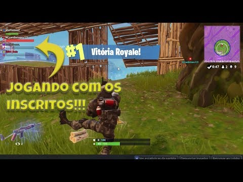FORTNITE COM OS INSCRITOS DO CANAL (Ft. ACcandiotopro123, Me