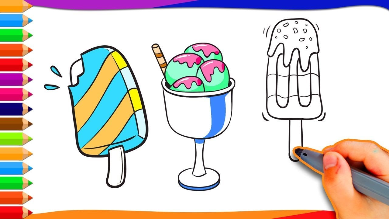 How to draw a cup ice cream active kids tv