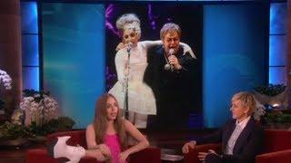 Lady Gaga Talks About Elton John's Children on Ellen show