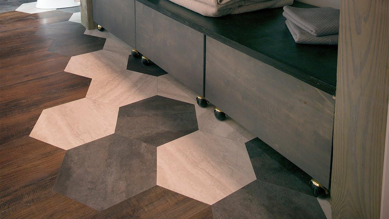 custom peel stick floor tile by east coast creative