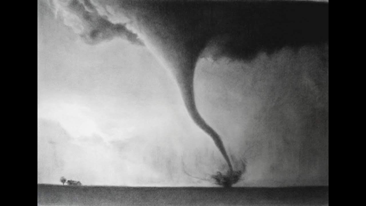 how to draw a realistic tornado  drawing tutorial (
