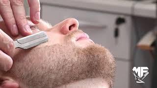 Barba com toalha quente mais do que um barbear uma terapia
